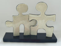 Puzzle People Ceramic Sculpture
